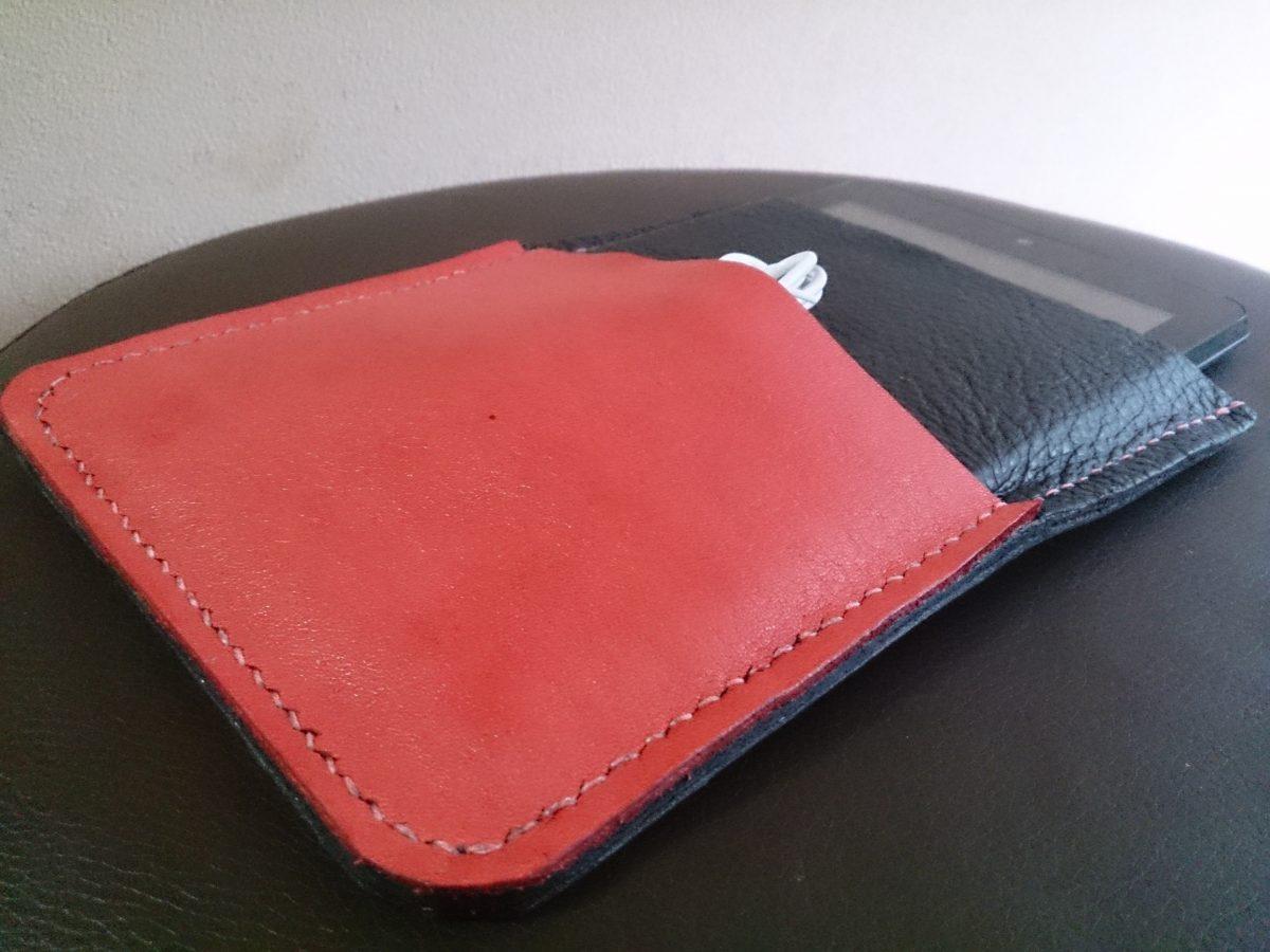 手作り革製タブレットケース