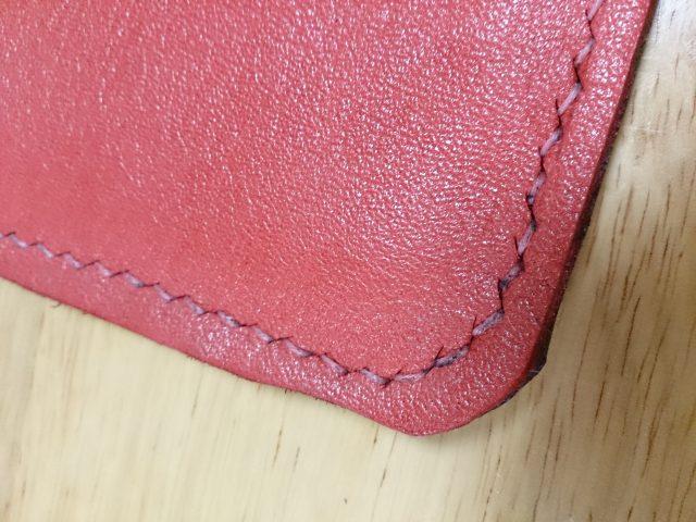 タブレットケースの縫い目
