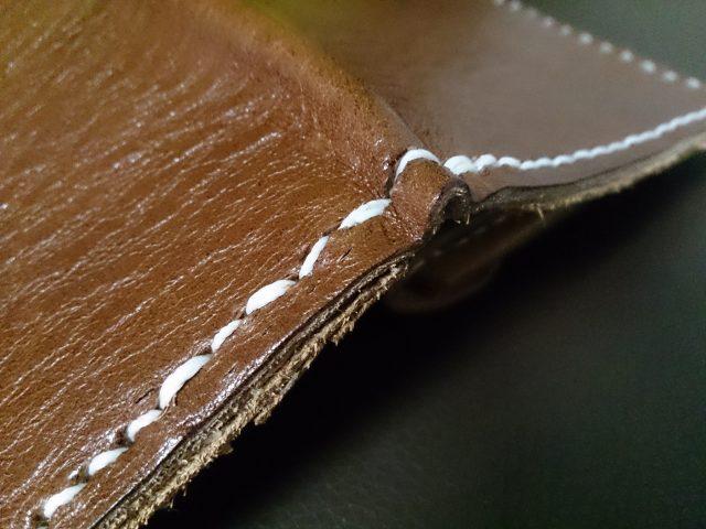 折り返しの部分の縫い