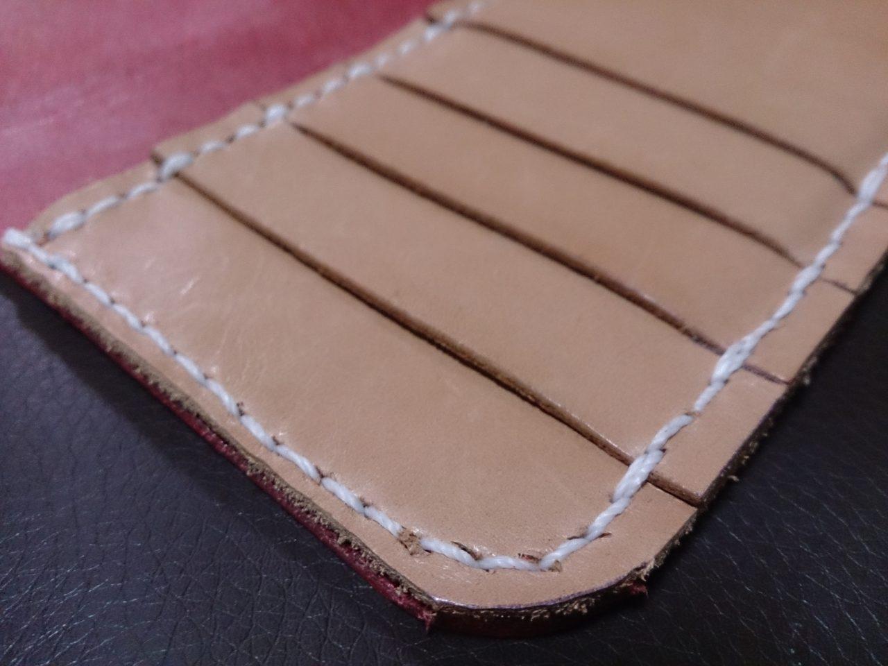 レザークラフトの縫い付け