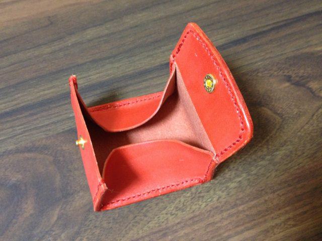 DIYで作ったボックス型小銭入れ
