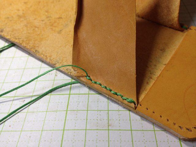 最初の縫製
