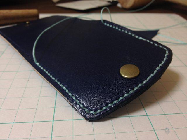 レザークラフトの縫製
