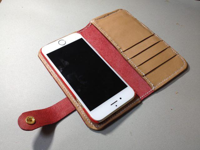 レザークラフトで作ったiPhoneケース