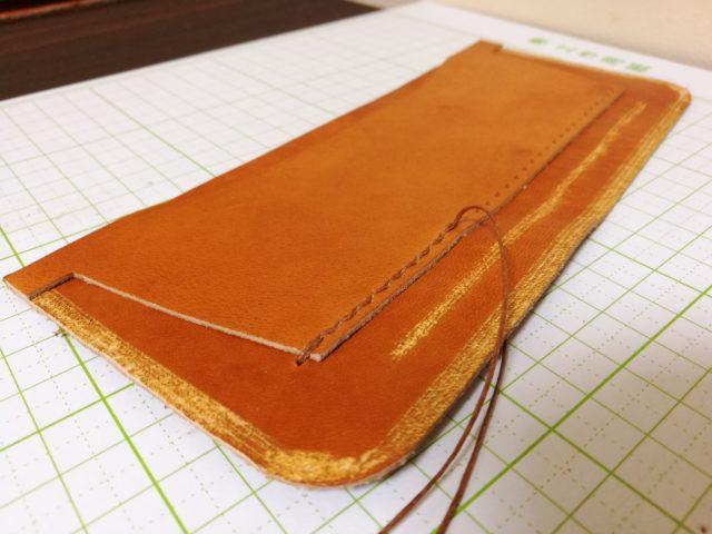 カードケースの縫い付け