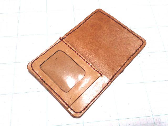 レザークラフト製カードケース付きパスケース
