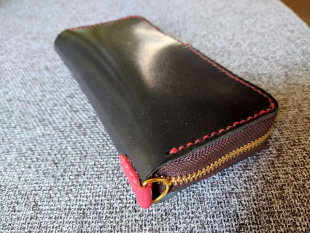 レザークラフトで作った財布