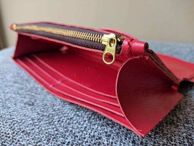 自作長財布の内装
