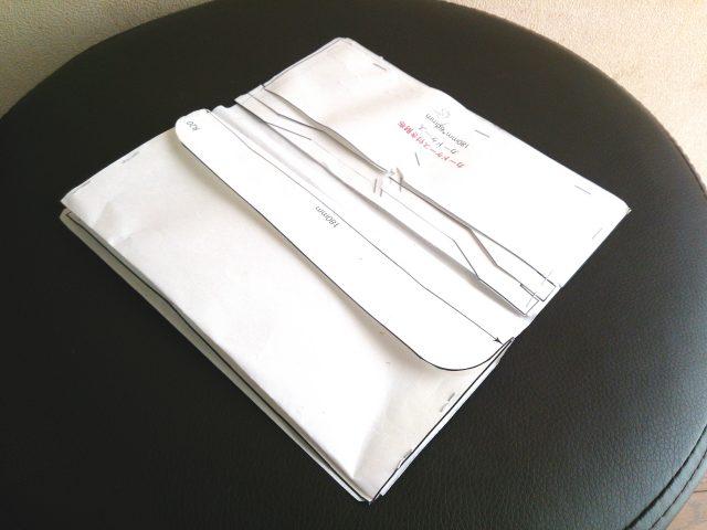 2つ折りウォレットの型紙