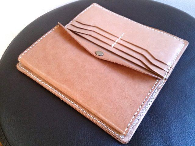 自作手作り2つ折り長財布