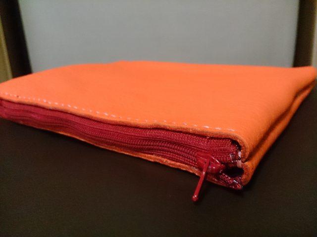 革製袋縫いポーチ