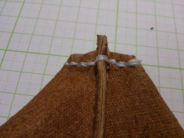 革を縫ったあと