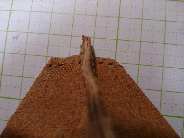 革を縫う前