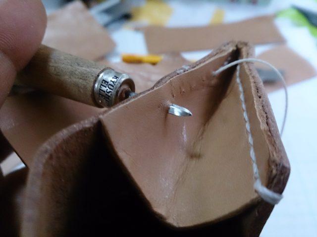 マチの縫い付け